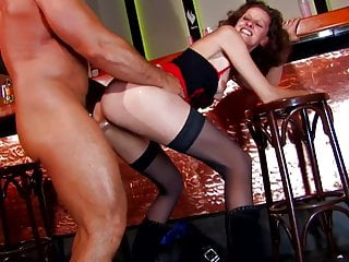 French Mature Whore fucked in all Holes at Disco