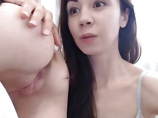 Petite Lesbians Asslicking and Pussy Fingering