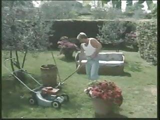 Classic British slut Louise gets fucked in the garden