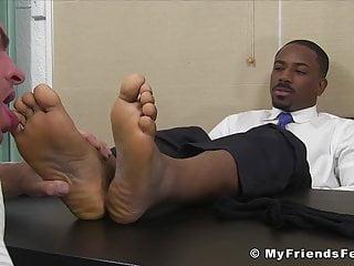 White dude needs a job so he licks...