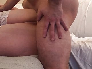 UK MILF in Corset and Stockings gets fucked in her ass, POV