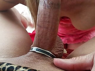 AMATEUR FRONT PORCH CIM RUB ON LARGE BREASTS
