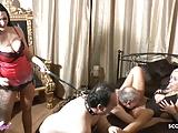 Two German BDSM Femdom Teen Seduce Old Man to Lick to Orgasm