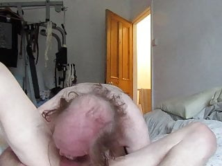 2 in 69 cocksucking throating and spunk at...