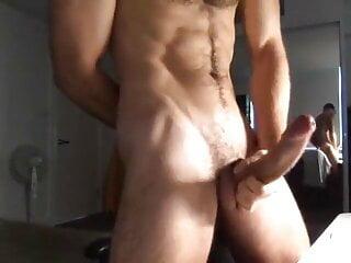 Handsome with huge dick cum