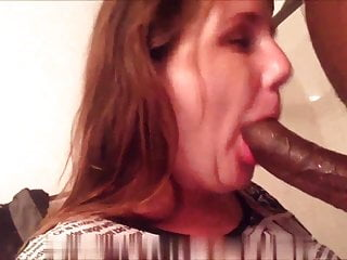 Married wife sucking her husband's friend's black dick