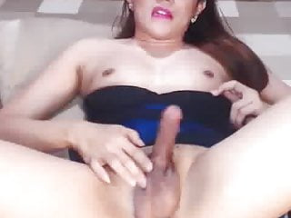 Cute Her Cock Horny and shemale jerking