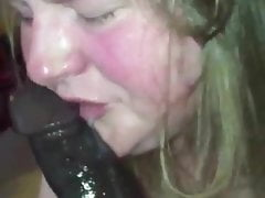 Fat young whore gaging out on a cock