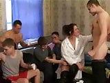 Russian nurse gangbanged by boys
