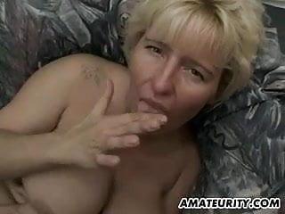 Busty amateur milf...
