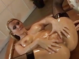 Harmony Facefucked, and Anal in Oil