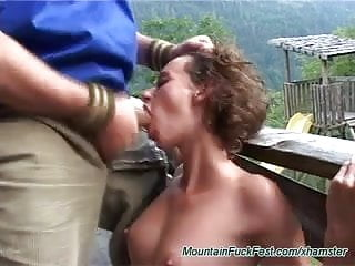 rough anal sex in the mountains