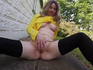 Star Trek Commander Haley in Thigh high boots outdoors