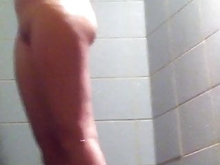 Small tits girl in Public Shower-Spy Cam Clip