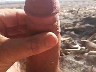 Me beach stroking...