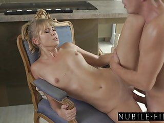 Better Than Badminton, Kitchen Cumming With Blonde Bombshell