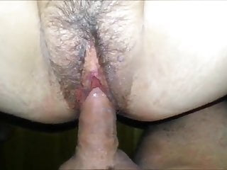 Fucking hairy wife quick1 minute creampie...