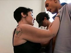 Nina Gang-fucked While Her Hubby Is Watching