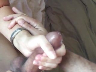 She massages me so neatly, my shaft explodes and surprises her