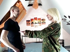 German Mommy Suprise Step Sonny With Tear Up After Come Home Army