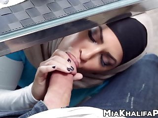 Spectacular cowgirl in hijab threesome...