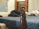 Sissywhore gets fucked bigly with a huge dildo