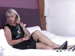 Dirty Old Granny Lady Sextasy Fucks Toyboy in Stockings!