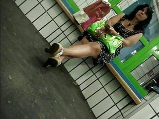 Candid excessive heels #16