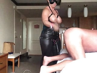 spanking and Wife  me dominates strapon