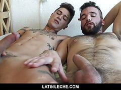 sizzling bareback double penetration for a sexy latino studfree full porn