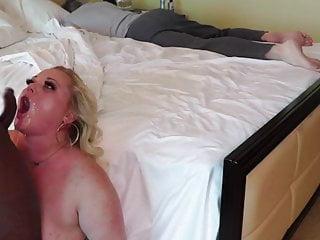 Blonde Cumshot Creampie video: White Slut Submits the Pussy to Black men. Milf Pawg BBC
