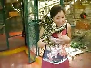 snake on neck