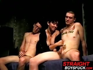 Cute strokes and jerks two cocks in a...