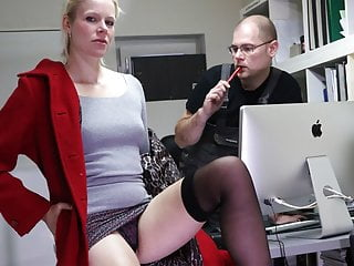 Bossy bitch calls for her employee's dick inside her