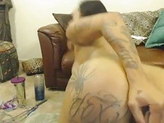 Big booty black bitch anal dildoing...