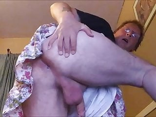his cock off bald and Sissy balls showing