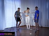 Fitness Rooms Redhead ballet teacher Charlie Red threesome
