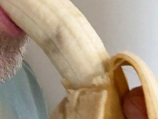 Me, deepthroating a banana.