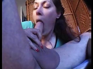 love creampie hot redhead filled up with cum in messy passio