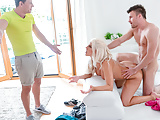 LETSDOEIT - Kinky Hot MILF Fucks With Stepson And His Friend
