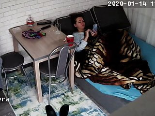 Hidden digital camera. Babe classmate spying on her 3