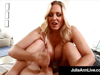 Hot Step-Mother Julia Ann Gives Step-Son Early AM Handjob!