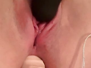 On pussy amp dildo in arse...