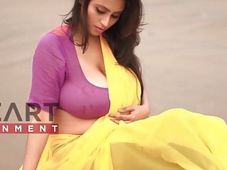 Saree Somudro Hot Edit Maria Yellow Saree