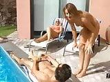 LissLongLegs: Cumshot at the pool