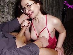 Sensual Blowjob, Handjob and Cumshot – Teen18+, Big Tits, German