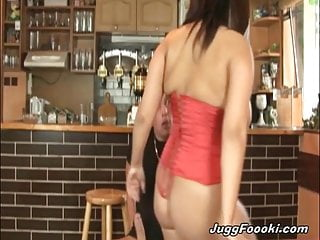 Busty babe gets pounded and gets her tits covered in jizz