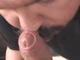 Blowjob rewarded with a huge cum facial...