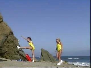Lesbian lifeguards beach...