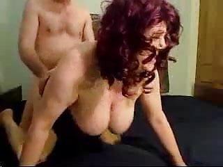 Fatty redhead with huge tits fucked hard
